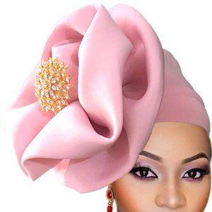 Pink Jeweled Ready to Wear Head Gear